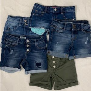 Lot Girls Denim Shorts SZ 8